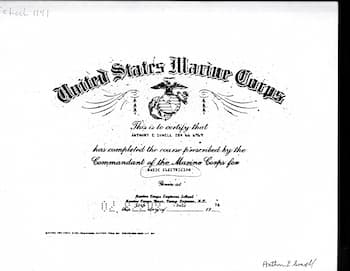 Anthony Sowell Marine certificate