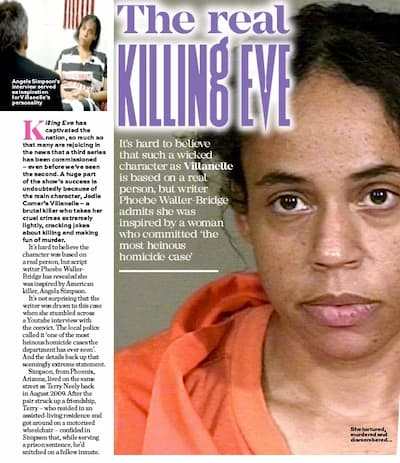 The Angela Simpson interview became an inspiration to the female assassin on the fictional BBC Killing Eve.